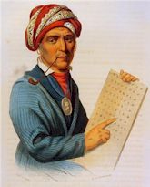 Sequoyah and his Cherokee alphabet
